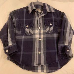 burberry boys button down long sleeve shirt 3T